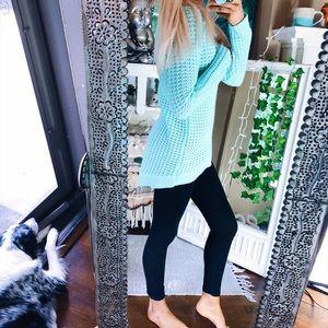 Sweaters - Minty Waffle Knit Sweater